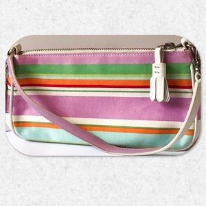 Coach Hampton Multi-Color Stripe Demi Handbag